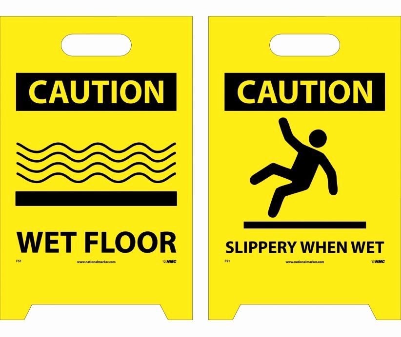 Wet Floor Signs Printable New Floor Sign Dbl Side Caution Wet Floor Caution Slippery