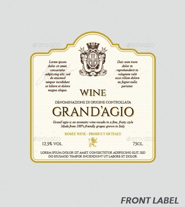 Wine Label Template Photoshop Awesome 13 Label Templates Free Sample Example format