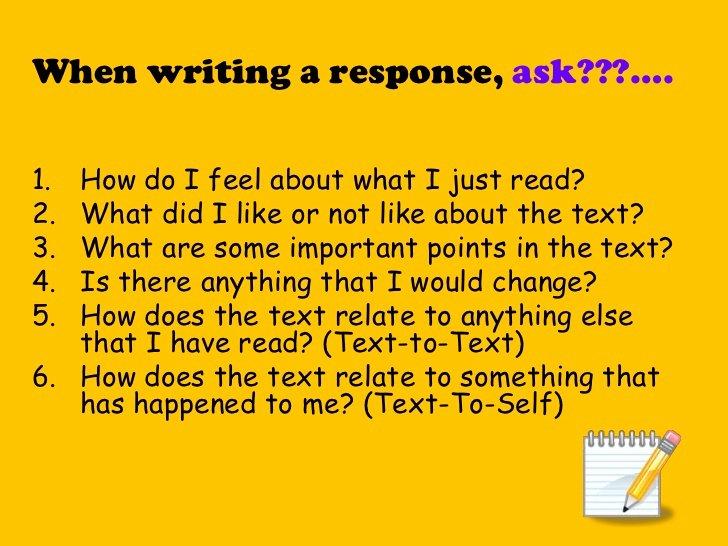 5th grade response to literature essay