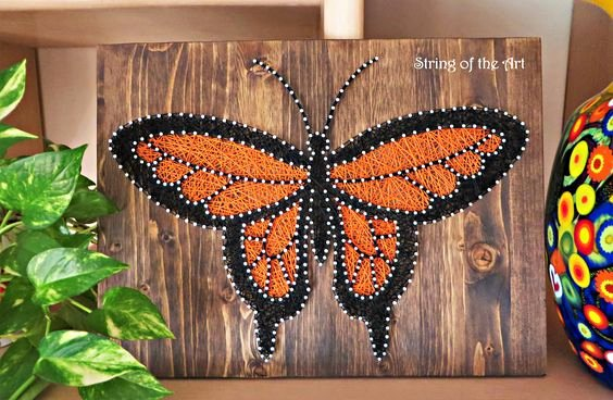 Wire Instructions Template Luxury Diy String Art Kit butterfly Diy Kit Home Decor Nail