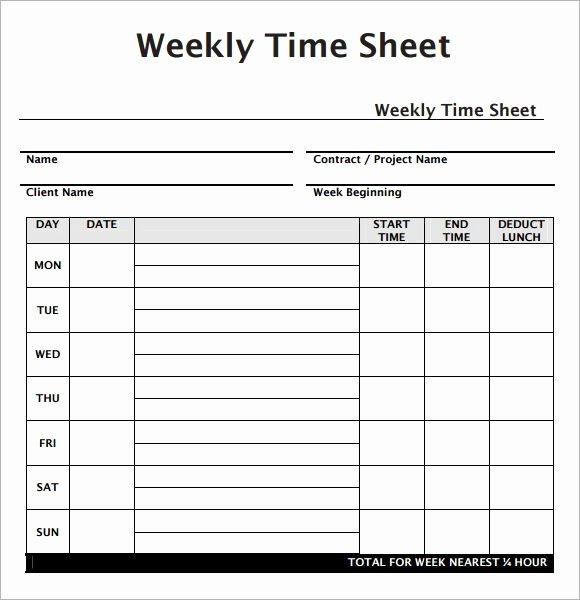Work Hours Log Sheet Fresh Weekly Employee Timesheet Template Work