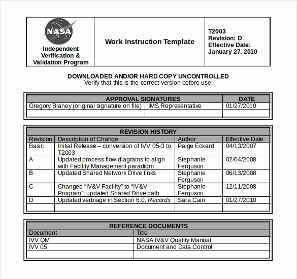 Work Instruction Template Word Awesome 10 Free Instruction Templates Ms Word format Download