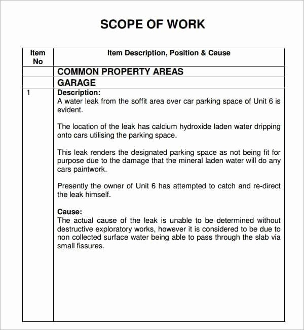 Work Instruction Template Word Inspirational 7 Construction Scope Of Work Templates Word Excel Pdf
