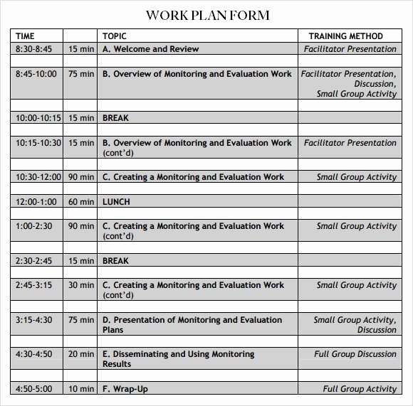 Work Plan Template Excel Beautiful Work Plan Template 13 Download Free Documents for Word