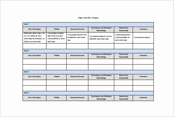Work Plan Template Excel Beautiful Work Plan Template 16 Free Word Pdf Documents Download