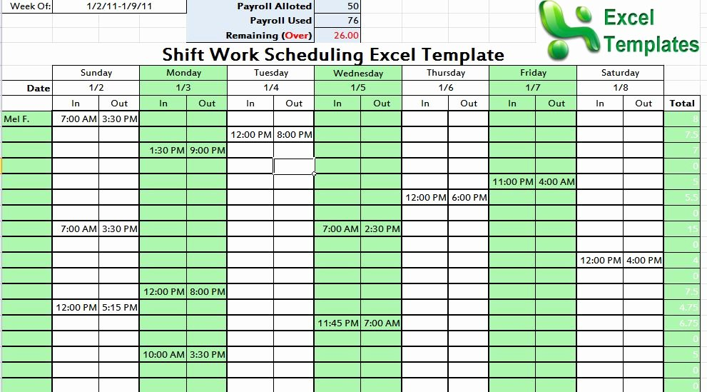 Work Plan Template Excel Best Of Shift Work Scheduling Excel Template