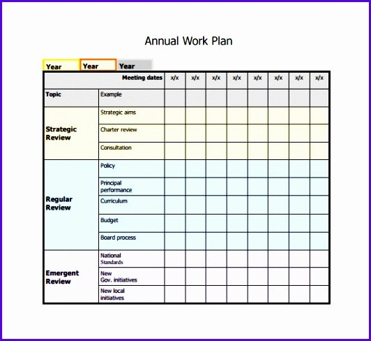 Work Plan Template Excel Fresh 5 Work Plan Template Excel Free Exceltemplates
