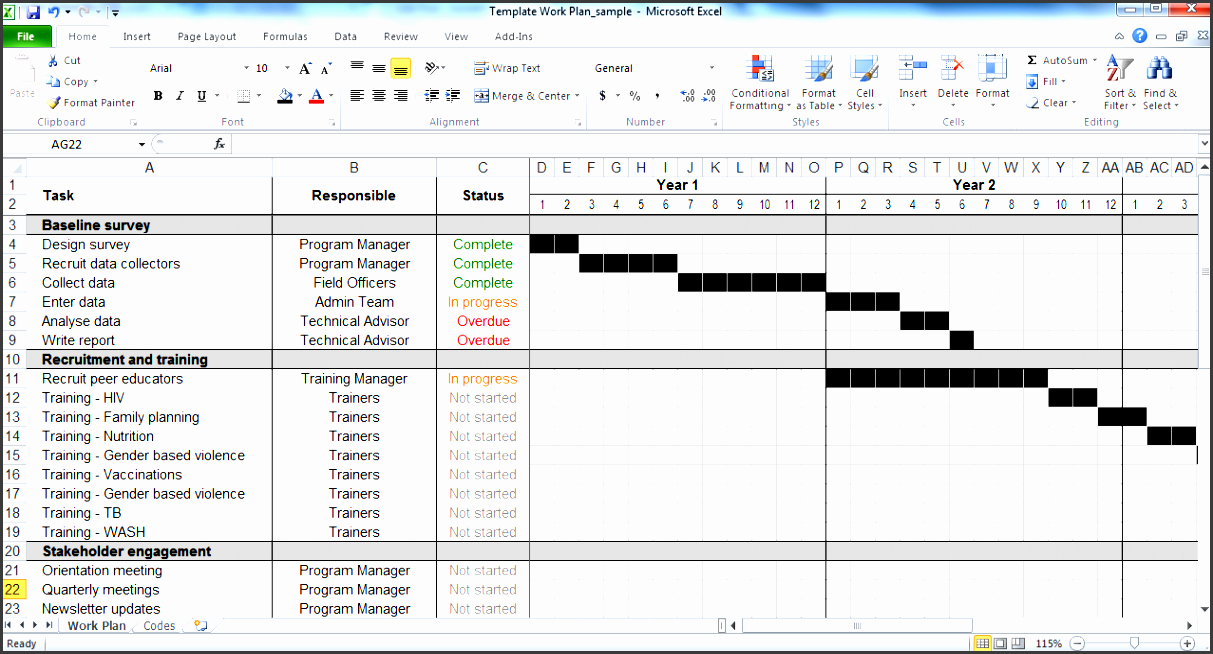 Work Plan Template Excel New 5 Weekly Time Planner Template In Excel