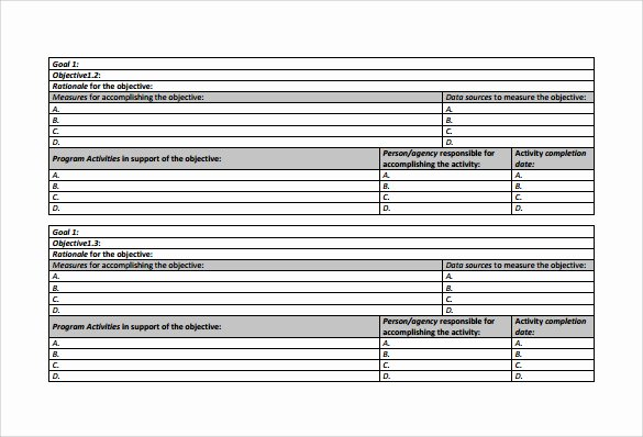 Work Plan Template Excel Unique Work Plan Template 20 Download Free Documents for Word