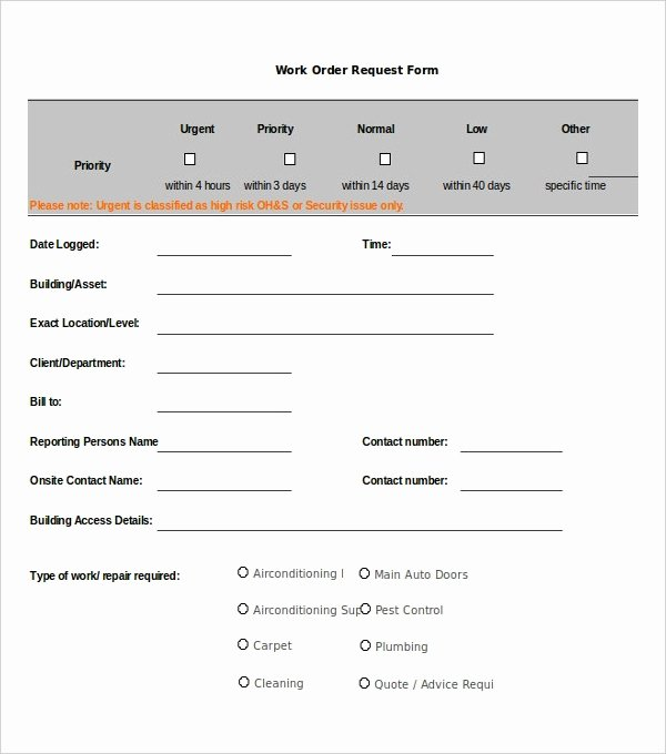 Work Request form Fresh 14 order Templates Ai Psd Google Docs