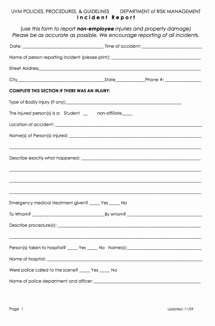 Workplace Incident Report form Template Free Best Of 13 Incident Report Templates Excel Pdf formats