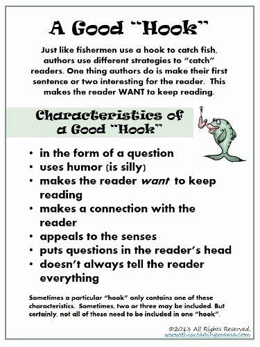make it interesting for the reader writing strategy