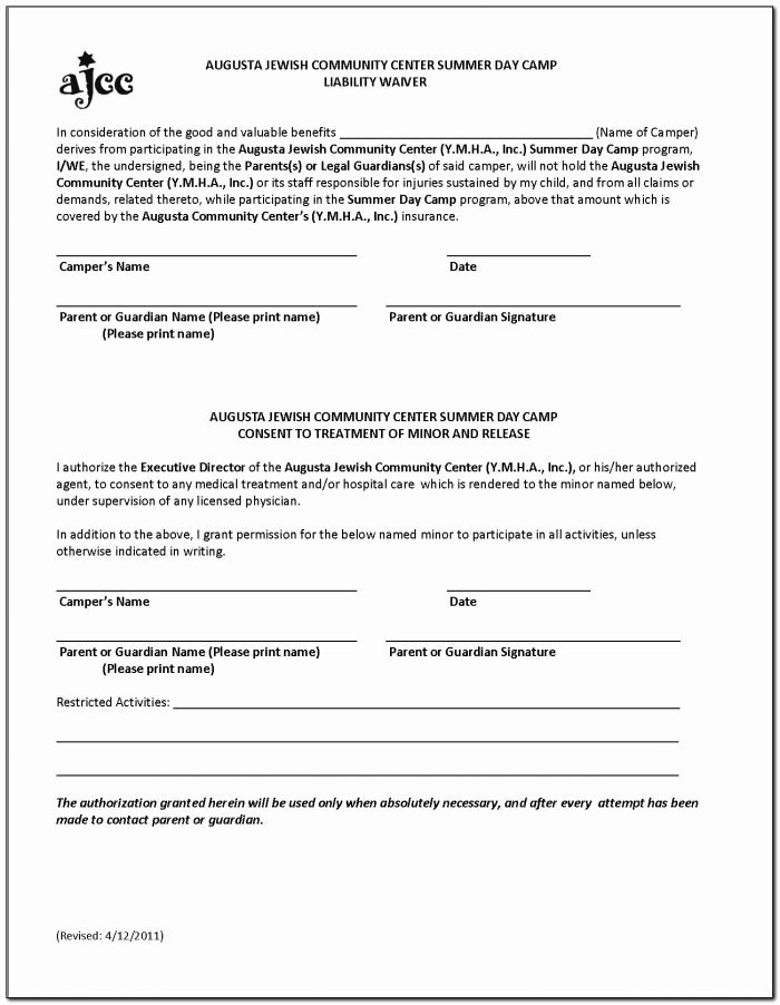 Yoga Release forms Luxury Free Yoga Liability Waiver form