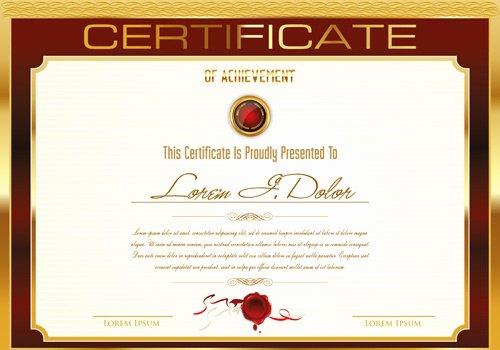 certificate template ai file