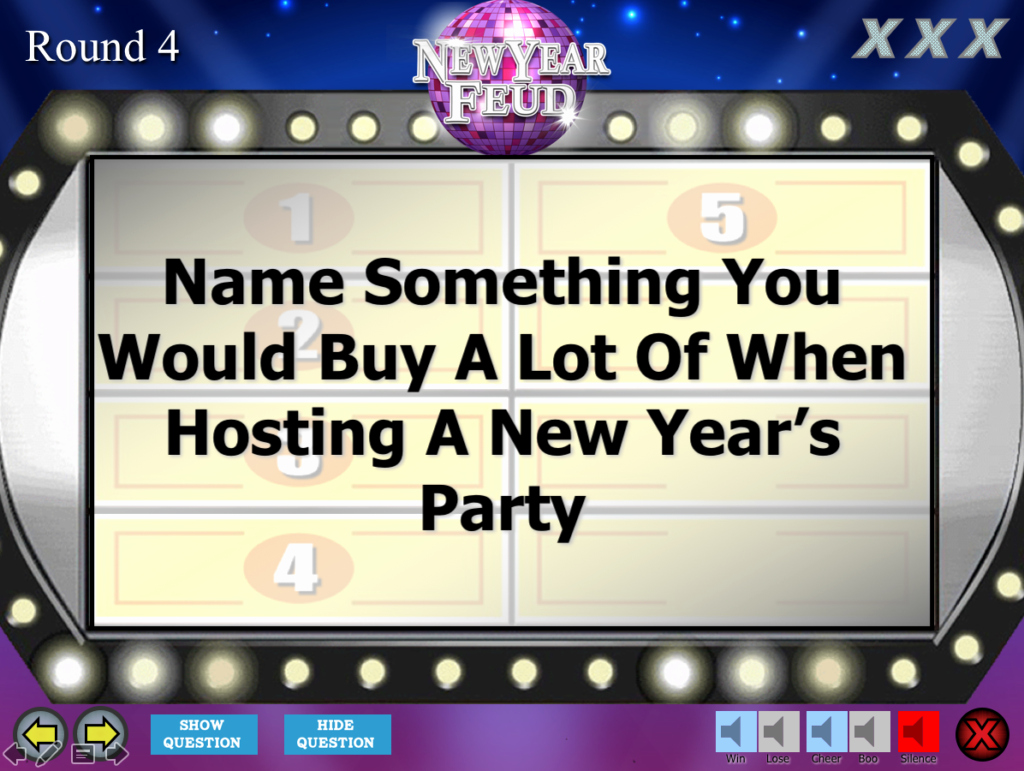 Youth Downloads Family Feud Beautiful New Year S Eve Party Family Feud Trivia Powerpoint Game