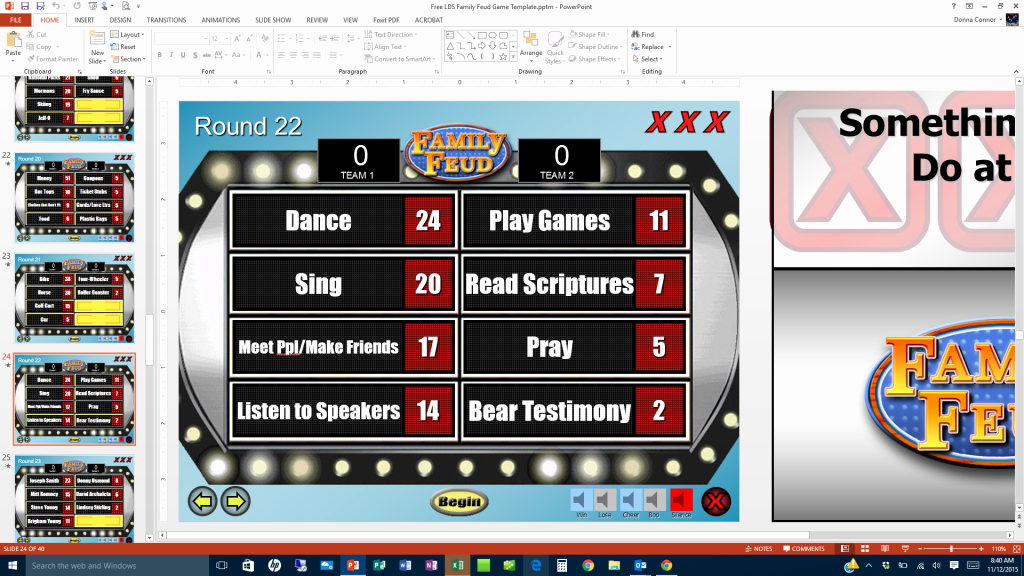 Youth Downloads Family Feud Lovely Lds Family Feud Game Template Prospering Families